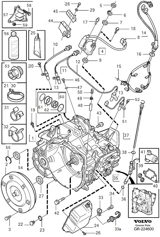 Volvo S60 Transfer Case Diagram on 2004 Volvo Xc90 Engine Mount Diagram