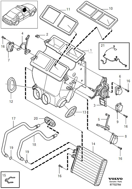 Showassembly on 1999 Volvo S70 Engine Diagram