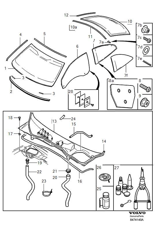 volvo c70 window diagram  volvo  auto parts catalog and